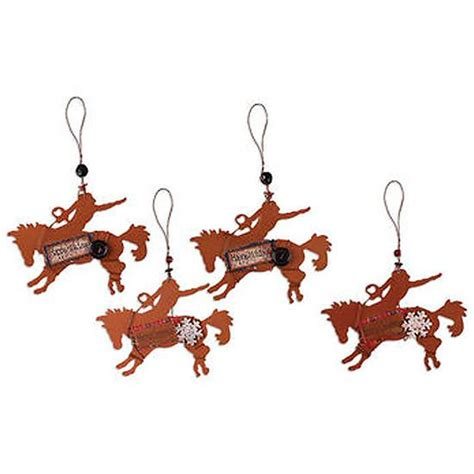 rodeo cowboy metal christmas ornaments 18600 buffalo