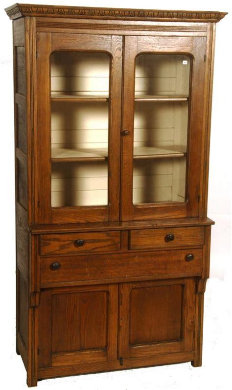 72 quot x 40 quot oak kitchen pie cabinet lot 369