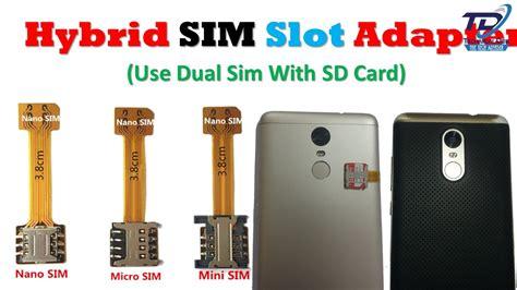 Adapter Dual Sim Converter Dual Sim Micro Sd Untuk Hp Sim Hybrid hybrid dual sim card adapter use dual sim with sd card