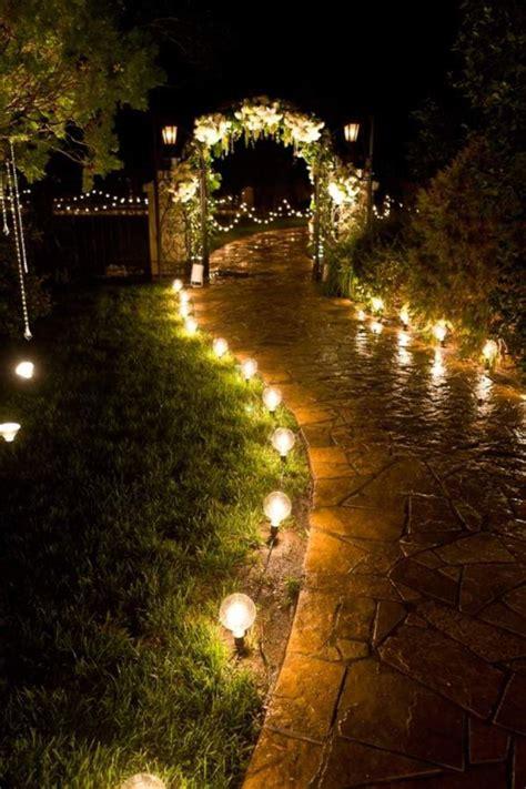 romantic garden lights google search garden design