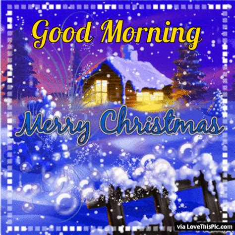 good morning merry christmas gif quote  snow pictures   images  facebook