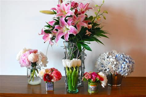 clumsy chic d i y floral arrangements