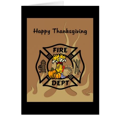 Firefighter Birthday Cards Firefighter Thanksgiving Stationery Note Card Zazzle