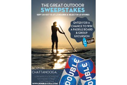 Outdoor Sweepstakes - double cola announces the great outdoors sweepstakes 2013 09 23 beverage