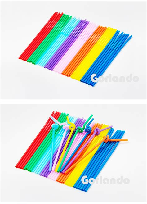 straw colored factory custom made cool colored plastic straw