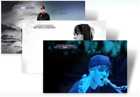 justin bieber never say never unboxing justin bieber tema para windows 7