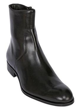 Country Boots Original Handmade Brown Black handmade leather boot zip up black leather boot