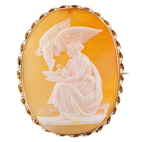 ist dibs shell cameos antique hebe and zeus mythological shell cameo brooch for sale at 1stdibs