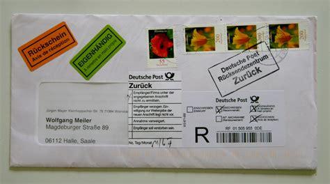 Adressaufkleber Briefkasten by Briefkasten Amt In Beweispflicht Erwerbslosen Forum