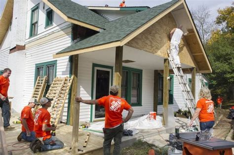 home depot associates help repair clean up south home