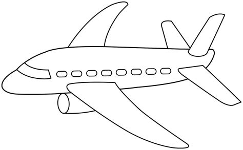 airplane template preschool preschool coloring pages of transportation coloring page