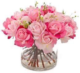 Rose Arrangements In Vases Real Touch Rose Faux Floral Arrangements Amp Centerpieces