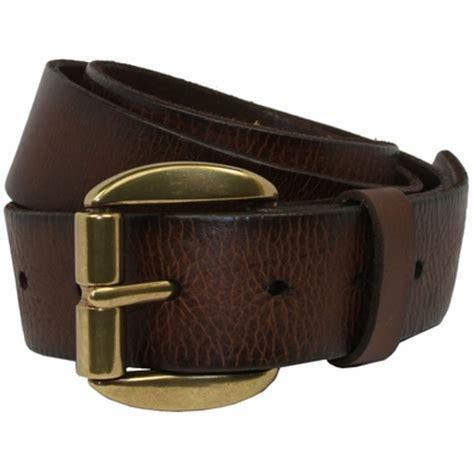 pete s grain leather casual jean belt solid brass