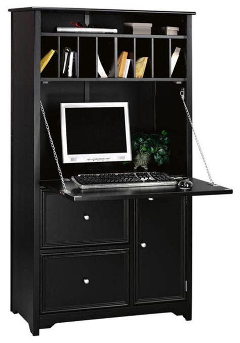 oxford tall secretary desk black transitional desks