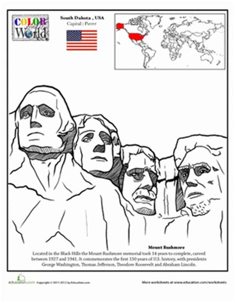 coloring page for mount rushmore mount rushmore coloring coloring pages