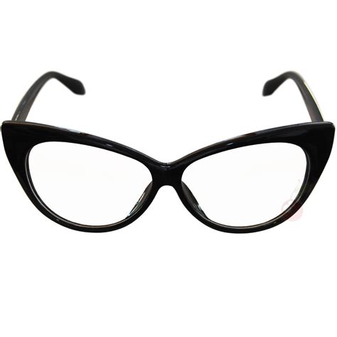 Cat With Glasses Black cat eye costume glasses black