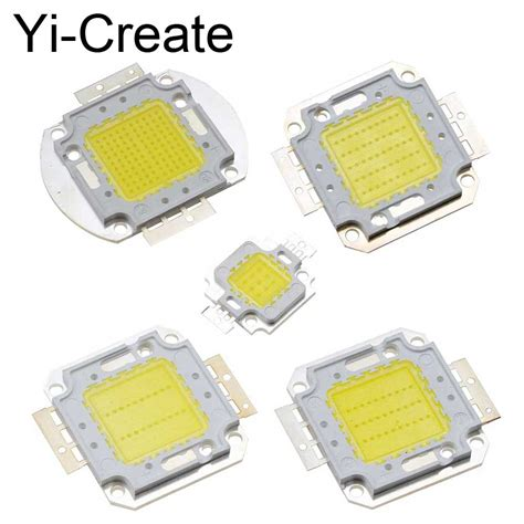 Chip Led Epistar 50w White 10pcs pack 10w 20w 30w 50w 100w white warm white original 38mil epistar chip led integrated chip