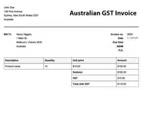 Gst Tax Invoice Template Free Invoice Templates Online Invoices