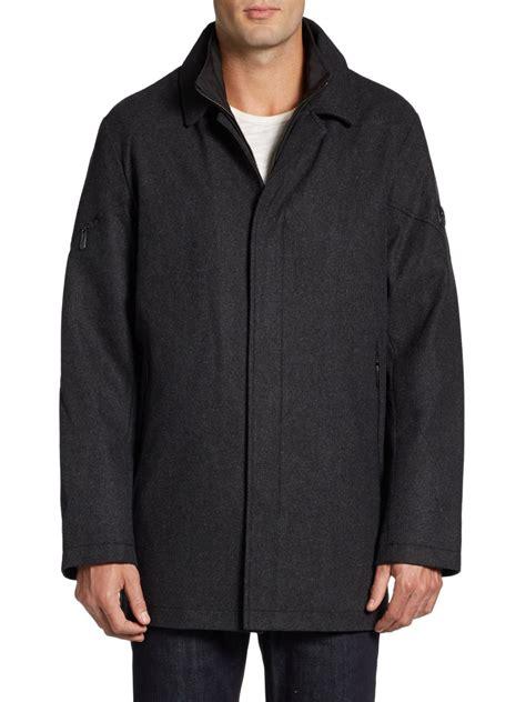 Wool Blend Jacket by Tumi Waterproof Wool Blend Jacket In Black For Lyst