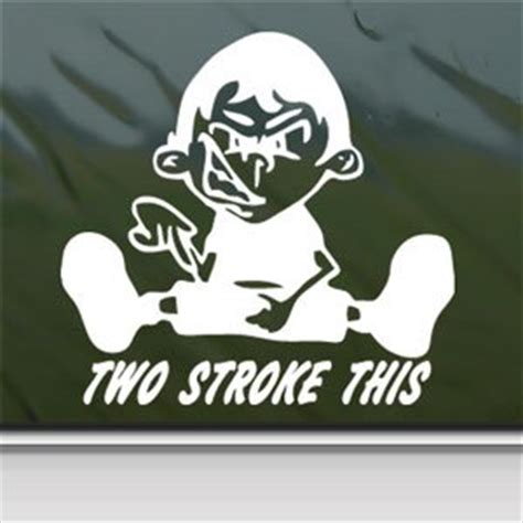 Biker Sticker Smoked By 2 Stroke 2 stroke this white sticker dirt bike enduro motorcycle white decal automotive