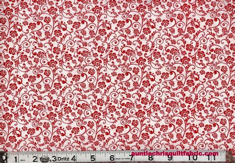 cotton quilt fabric on white floral spray calico