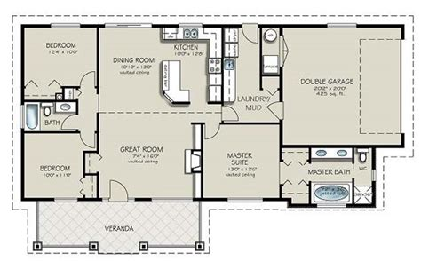Two Bedroom Ranch House Plans 3 Bedroom 2 Bath Ranch Houseplans
