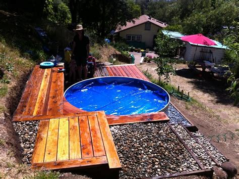 stock tank pool galvanized stock tank turned into a simple diy pool eco