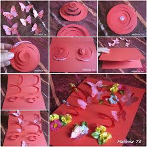 diy 3d butterfly and flower card