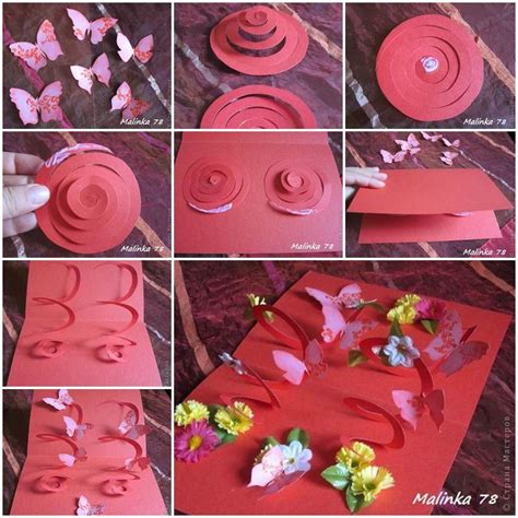 3d birthday cards to make diy 3d butterfly and flower card