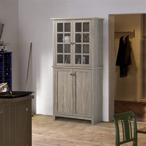 Dining Room Cabinets For Storage by Storage Cabinet With 2 Glass Doors Kitchen Dining Room