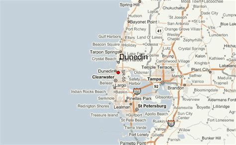 map of ta florida and surrounding area dunedin fl carefree rv resort trailer cing