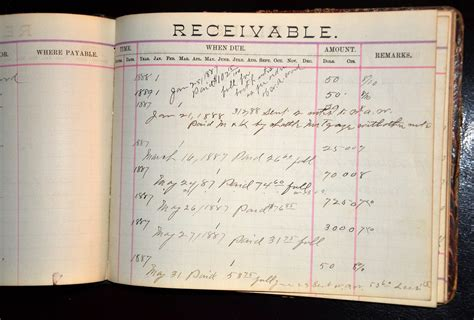 bills payable bills receivable 1880s account books from