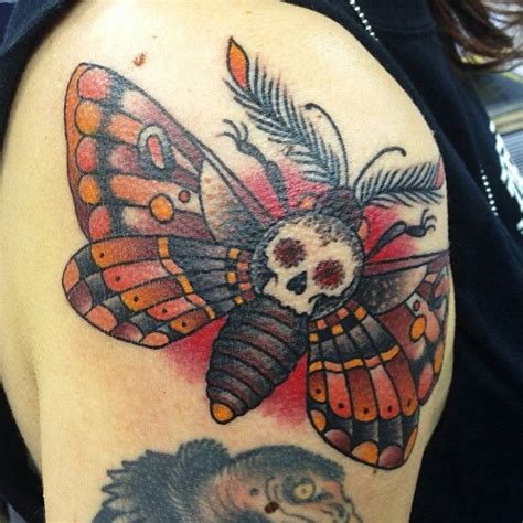 death head moth tattoo moth dan smith tattoos ideas