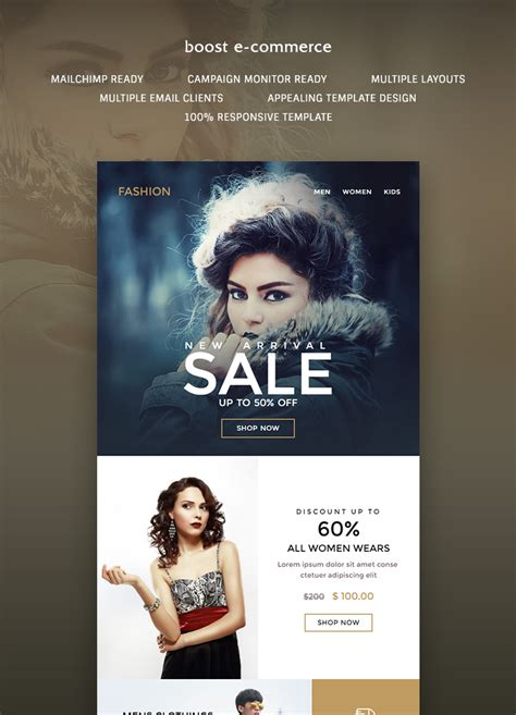 Boost E Commerce Newsletter Template Buy Premium Boost E Commerce Newsletter Template Theem On Buy Newsletter Templates