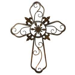 Metal Cross Wall Decor hanging wall cross fleur de lis metal wall decor sculpture