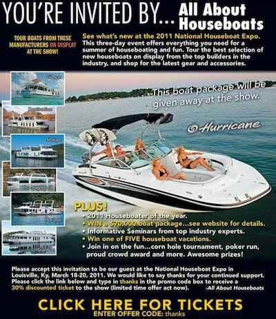 boat show discount tickets houseboat insider special 30 boat show discount