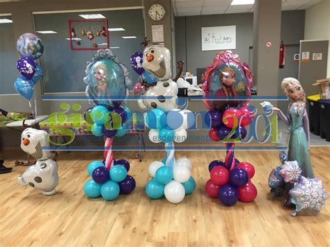 arreglos con globos de frozen imagenes de decoracion con globos de frozen
