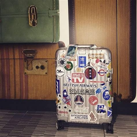 Sticker Koper Rimowa Untuk Travellinv Design 6 metops great snap of a rimowa topas covered in stickers http www globalluggage co uk brands
