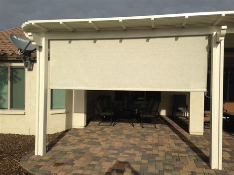 Roll Up Patio Cover by Roll Up Shades Photo Gallery Booth Built Patio Products