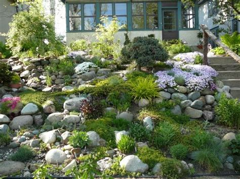 Sloping rock garden landscaping ideas pinterest