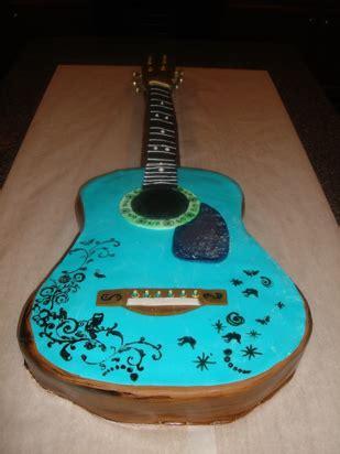 guitar shaped birthday cake