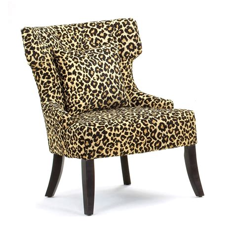 Leopard Accent Chair Gaia Leopard Print Accent Chair At Hayneedle