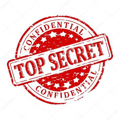 best secret damaged seal top secret confidential stock photo