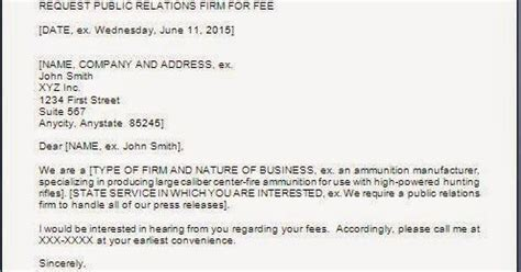 Service Fee Quotation Letter Every Bit Of Letter Format Asking For Service Fees Quotation
