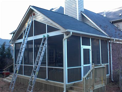 Multi Gabled Roof Harrisburg Nc Room Addition Sunroom Screen Porch Artisans