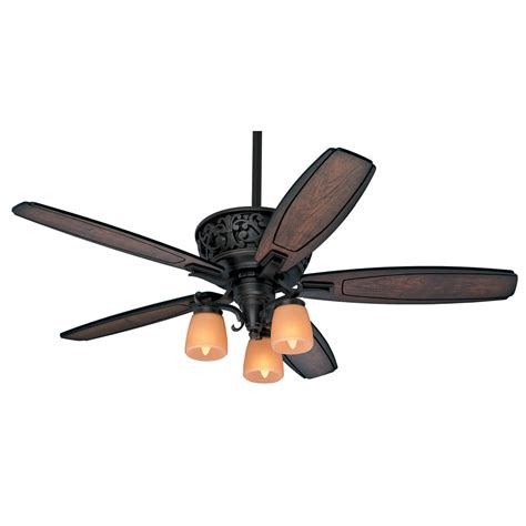 large indoor ceiling fans with lights shop hunter willowcrest 54 in brittany bronze indoor