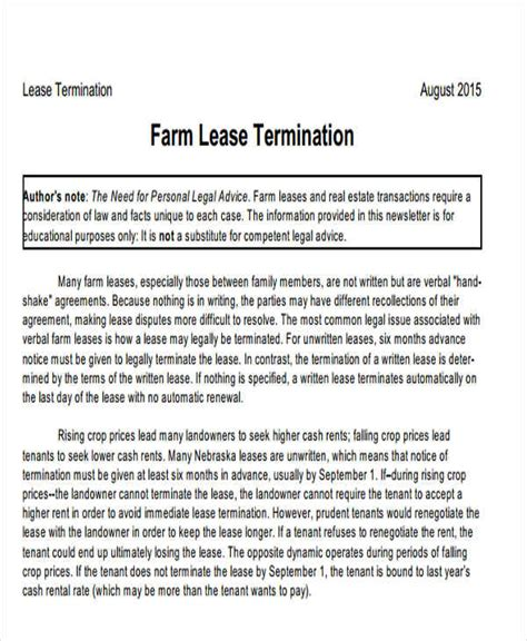 lease termination letter lease termination letter lease