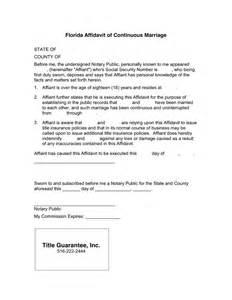 affidavit template florida florida affidavit of continuous marriage in word and pdf