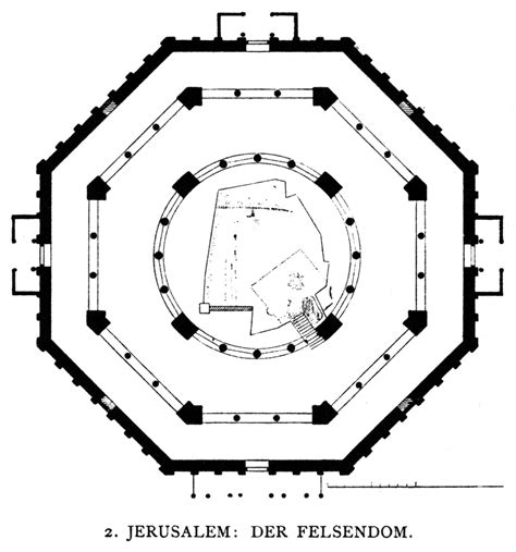 dome of the rock floor plan la c 218 pula de la roca segunda parte el edificio isl 225 mico