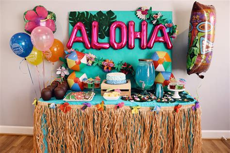 Birthday Party Decorations At Home Moana Themed Party Chanel Moving Forward